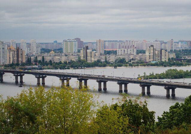 Widok na Kijów, Ukraina