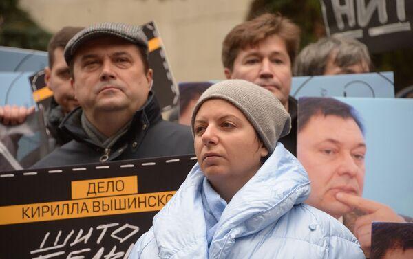Moskwa: akcja wsparcia dziennikarza Kiriła Wyszynskiego - Sputnik Polska