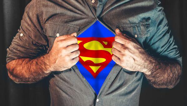 Mężczyzna w kostiumie Supermana - Sputnik Polska