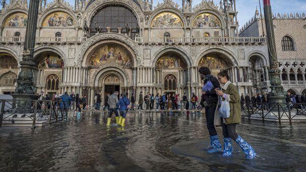 Powódź w Wenecji - Sputnik Polska