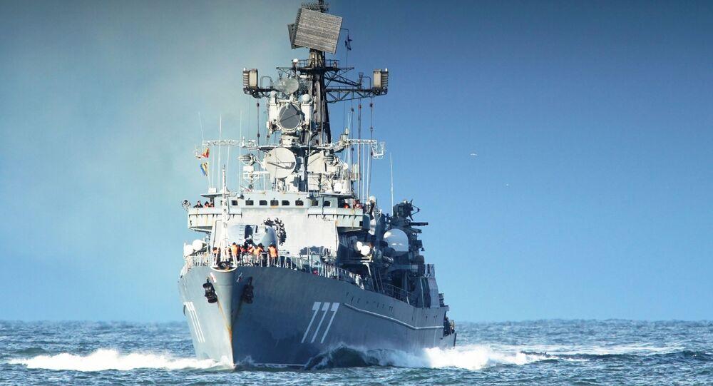 Okręt Jarosław Mądry wraca do bazy po ćwiczeniach