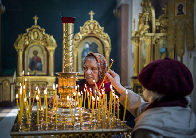 Prawosławna Pascha w Doniecku