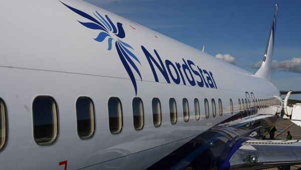 Samolot Boeing 737-800 linii lotniczych NordStar na lotnisku w Krasnojarsku - Sputnik Polska