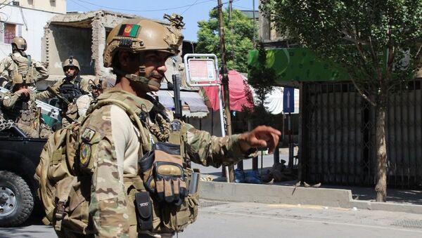 Afgański policjant, Kabul - Sputnik Polska