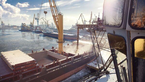 Port handlowy w Mariupolu, Ukraina - Sputnik Polska