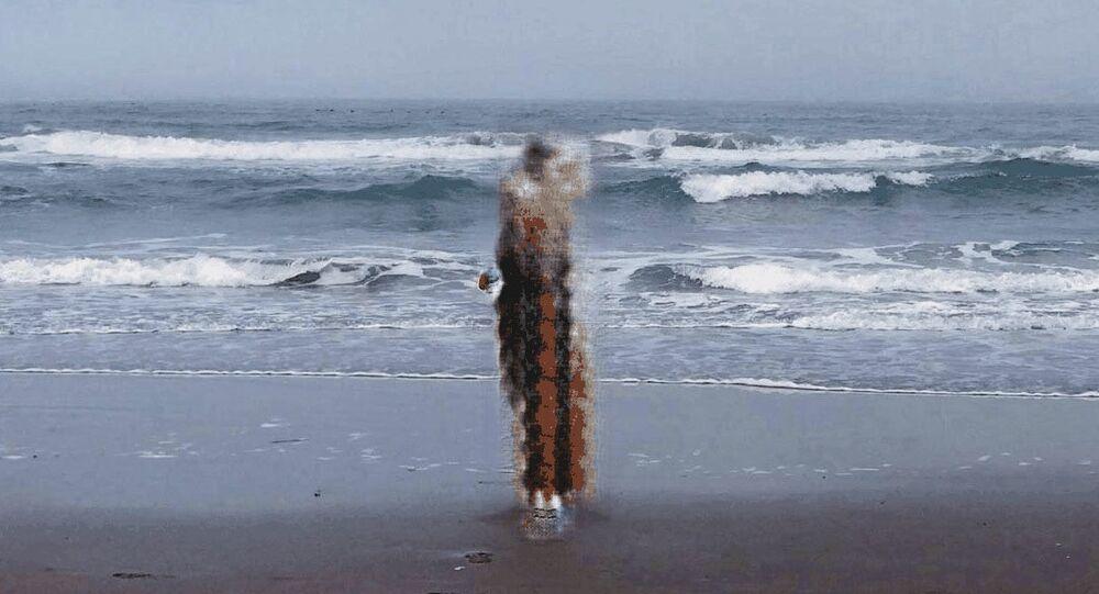 Wizerunek ducha otrzymany przez aplikację sztucznej inteligencji Al Spirits