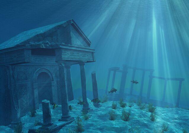 Ruiny starożytnej cywilizacji pod wodą