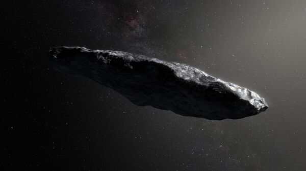 Ilustracja planetoidy Oumuamua - Sputnik Polska