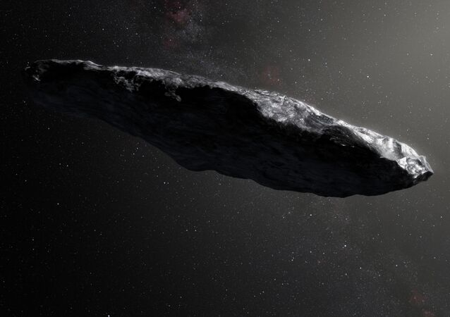 Ilustracja planetoidy Oumuamua