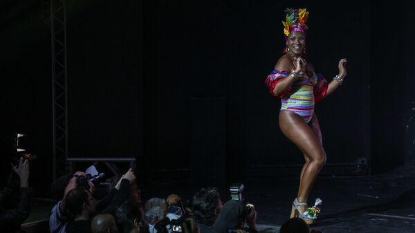 Uczestniczka konkursu Miss BumBum 2018 w Brazylii - Sputnik Polska