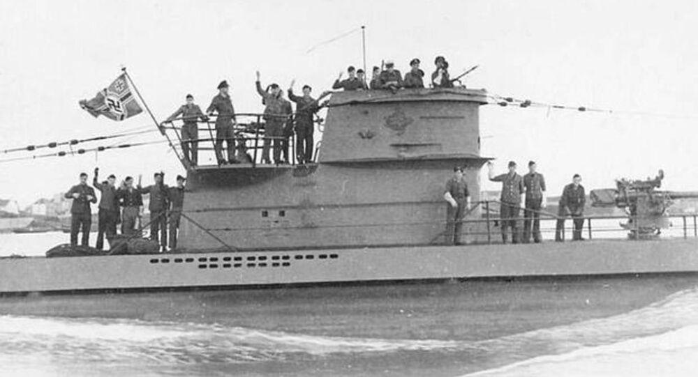 Nazistowski okręt podwodny U-2513 typu XXI (zdjęcie archiwalne)