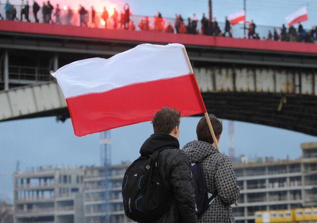 Flaga Polski w Warszawie