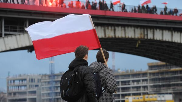 Flaga Polski w Warszawie - Sputnik Polska