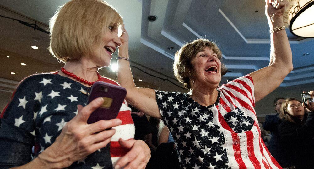 Świętowanie zwycięstwa Demokratów na wyborach (midterms) do Izby Reprezentantów