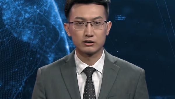 Cyfrowy prezenter w Chinach - Sputnik Polska