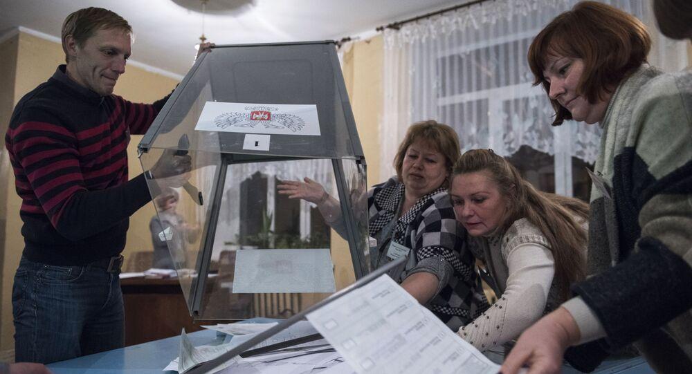 Liczenie głosów na wyborach szefa i deputowanych do Rady Ludowej DRL