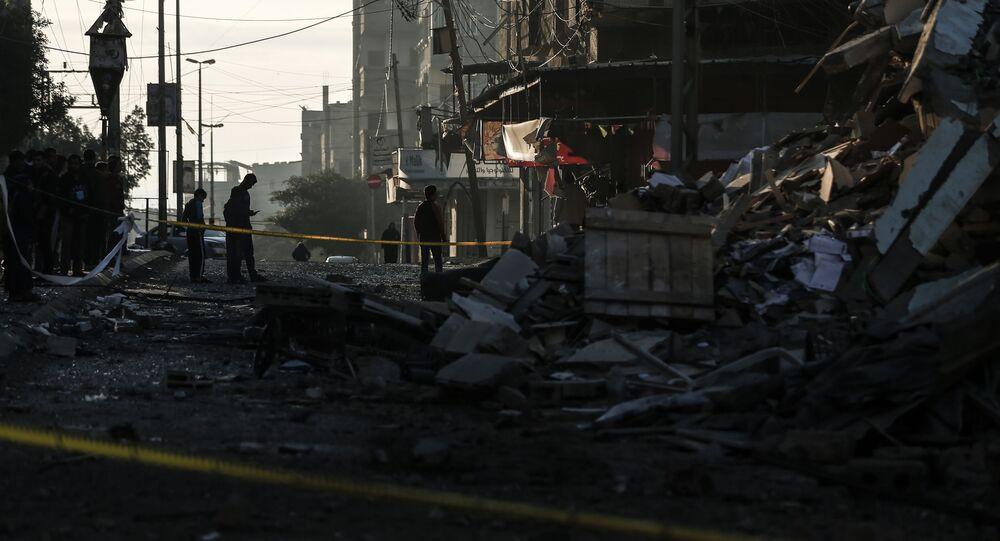 Skutki izraelskich nalotów na Strefę Gazy