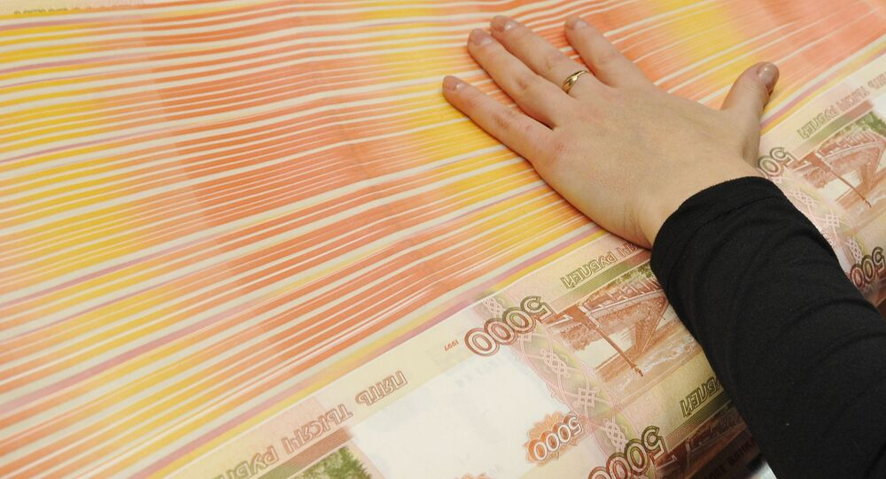 Druk rosyjskich banknotów w wytwórni w Permu