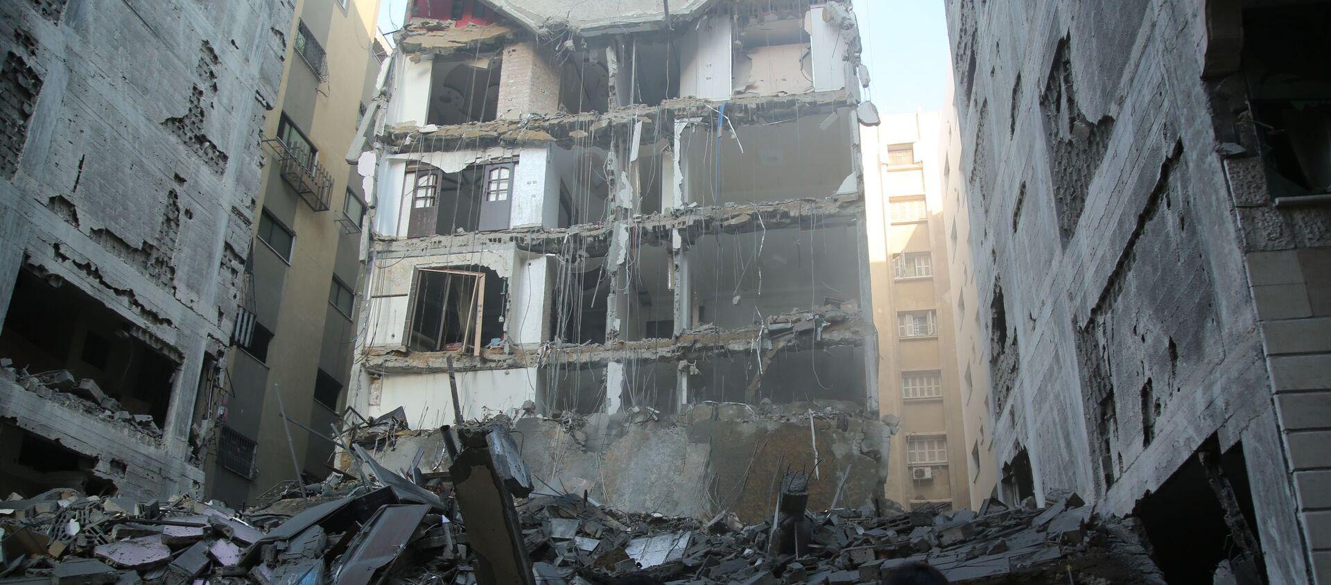 Izraelskie siły powietrzne zbombardowały Strefę Gazy - Sputnik Polska, 1920, 15.05.2021