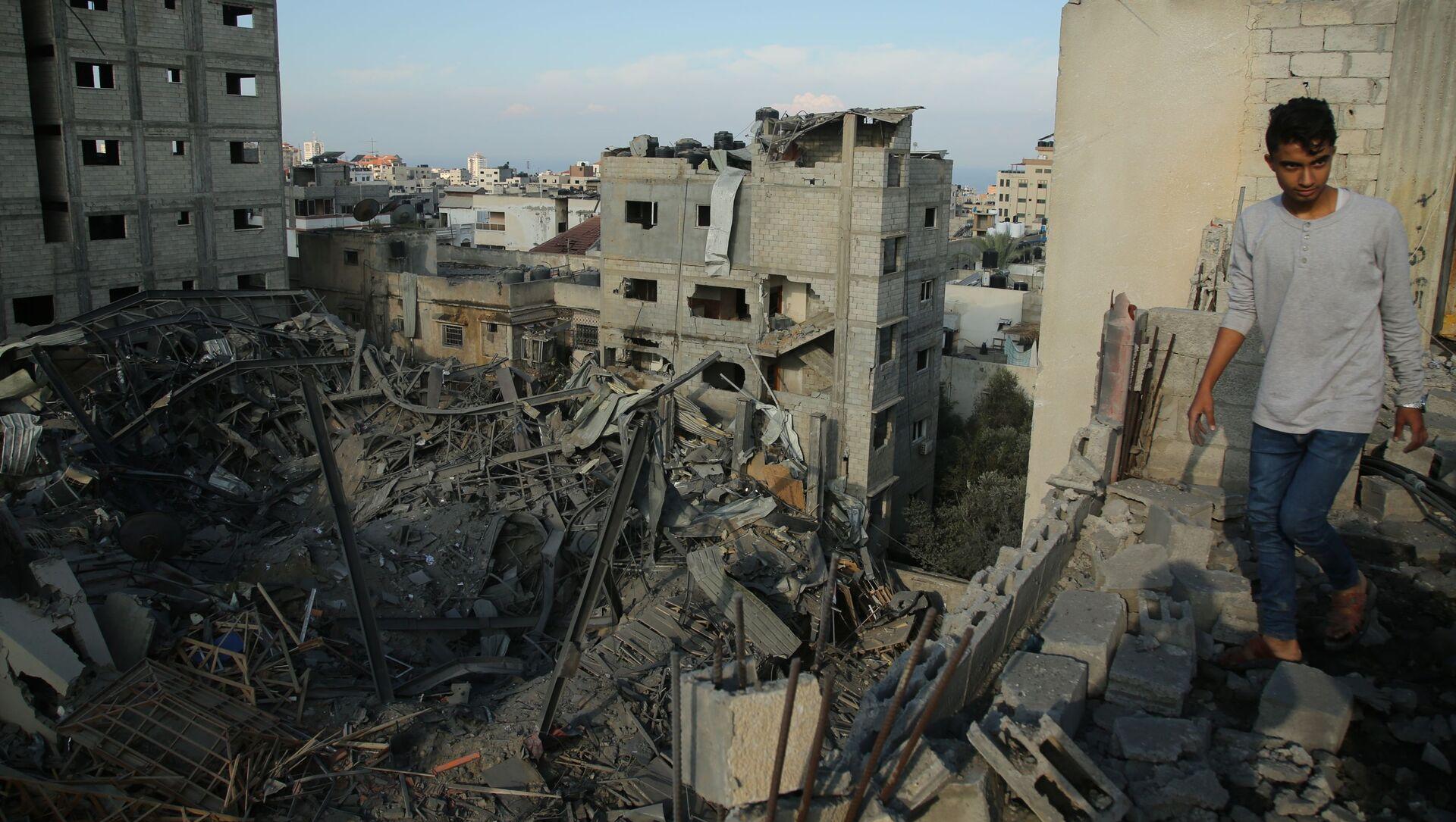 Izraelskie siły powietrzne zbombardowały Strefę Gazy - Sputnik Polska, 1920, 17.02.2021