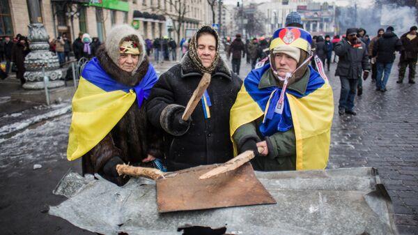 Zwolennicy eurointegracji w Kijowie, Ukraina - Sputnik Polska