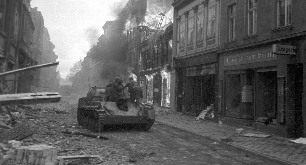 Czołg w Gdańsku. II Wojna Światowa