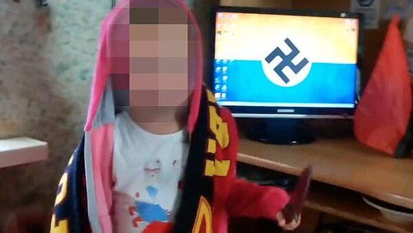 """3-letnia ukraińska dziewczynka wykrzykuje hasła nazistowskie i grozi """"zarżnięciem Rosjan - Sputnik Polska"""