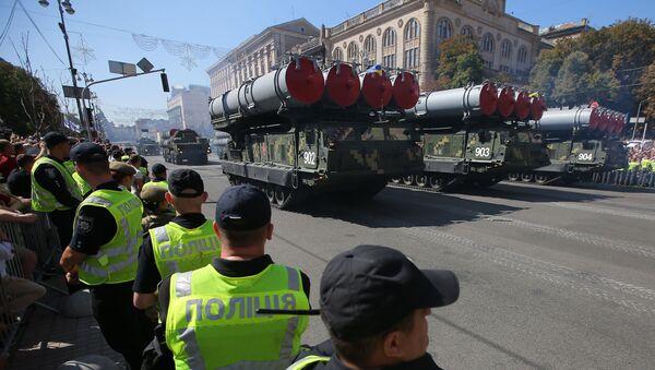 Wyrzutnie S-300 na defiladzie wojskowej w Kijowie - Sputnik Polska