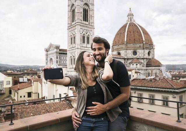 Turyści we Florencji