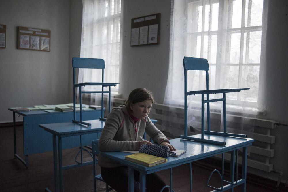 Wiejska szkoła pod Donieckem