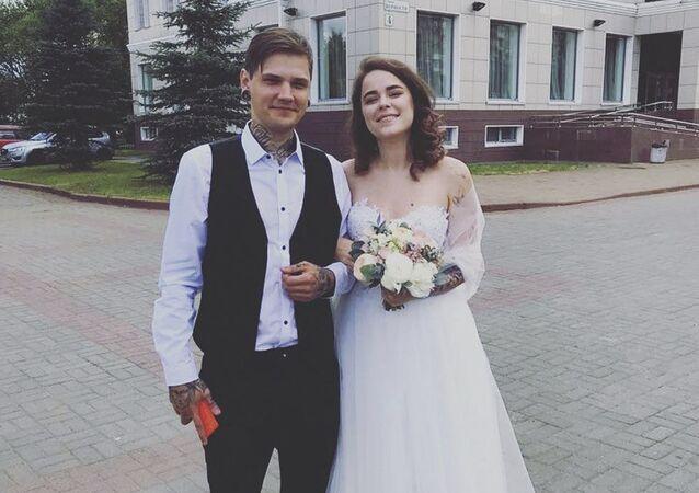 Nowożeńcy z Petersburga, Dmitrij Onyszkiewicz i Aleksandra Pomiełowa, którzy zginęli w wypadku drogowym w Dominikanie