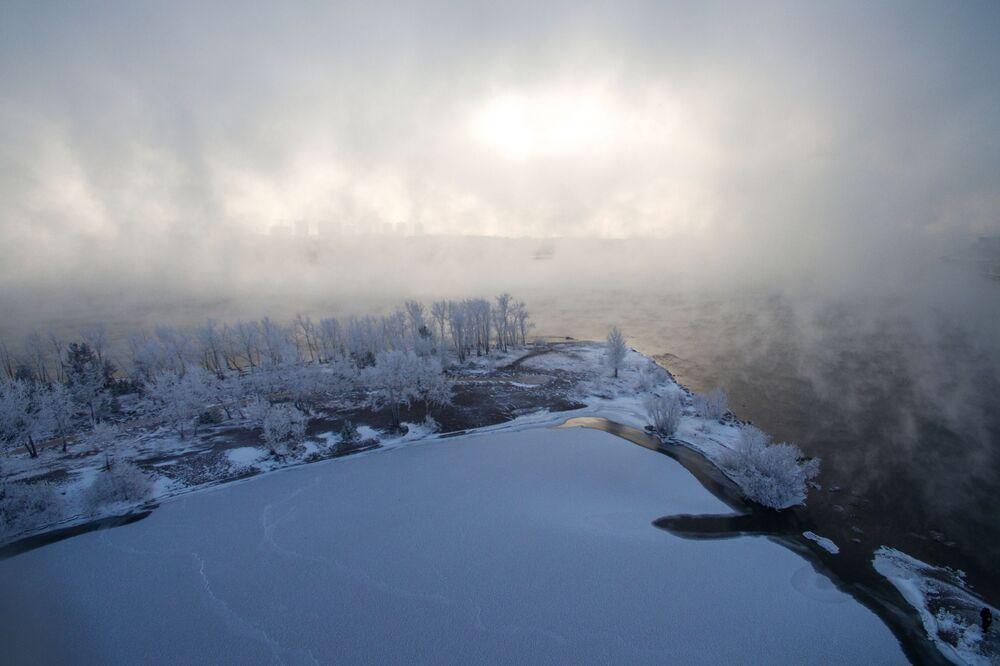 Temperatura w Krasnojarsku spadła do -25 stopni