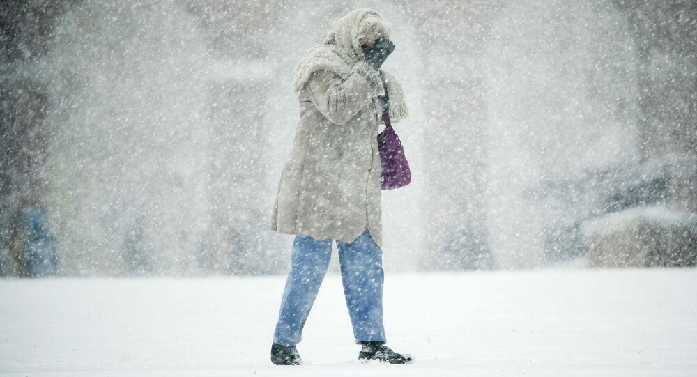Burza śnieżna w Filadelfii, USA