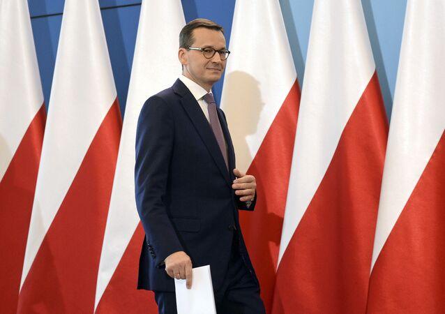 Polski premier Mateusz Morawiecki. Zdjęcie archiwalne