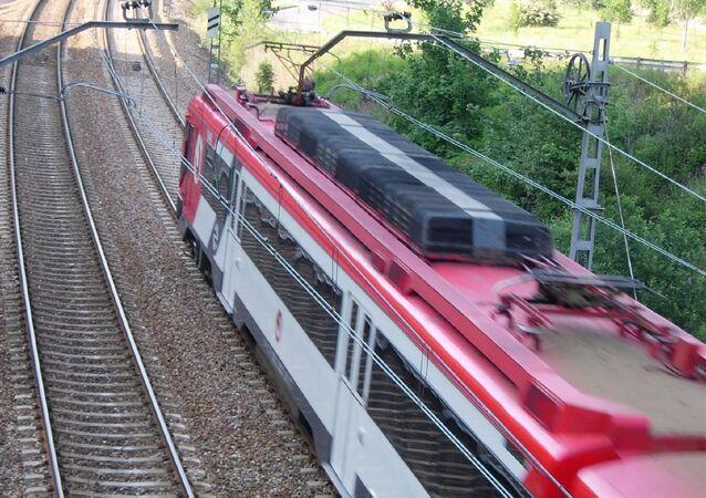Pociąg w Hiszpanii