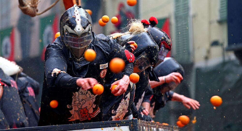 Włochy, bitwa na pomarańcze