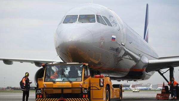 Samolot linii lotniczej Aerofłot - Sputnik Polska