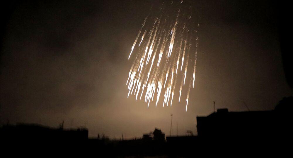 Nalot koalicji na syryjskie miasto z użyciem białego fosforu