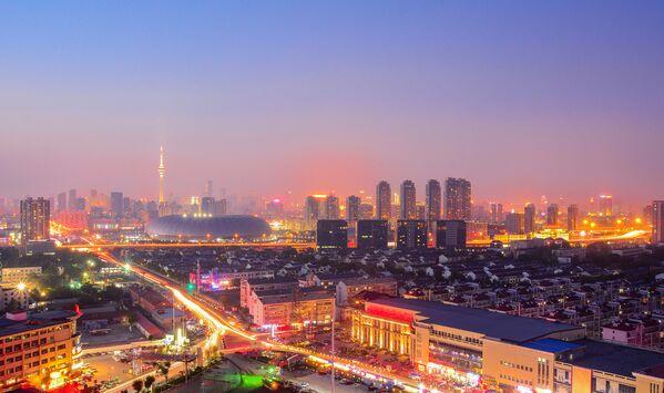 Wieża telewizyjna Tianjin w Chinach - Sputnik Polska