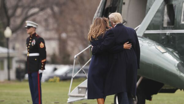 Donald i Melania Trump - Sputnik Polska