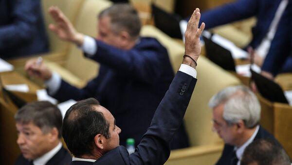 Deputowani na posiedzeniu plenarnym Dumy Państwowej  - Sputnik Polska