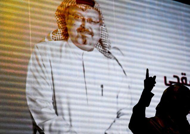 Wizerunek saudyjskiego dziennikarza Chaszodżdżiego na ekranie