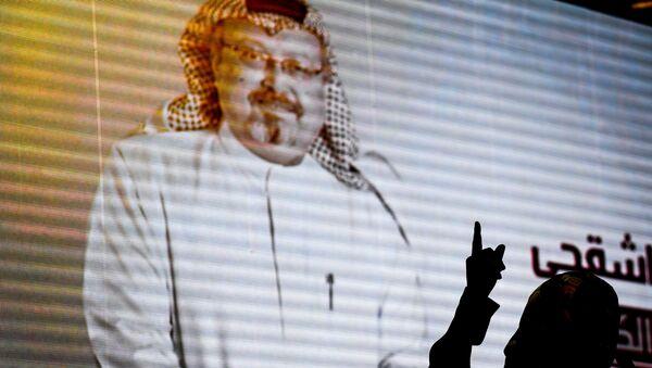 Wizerunek saudyjskiego dziennikarza Chaszodżdżiego na ekranie - Sputnik Polska