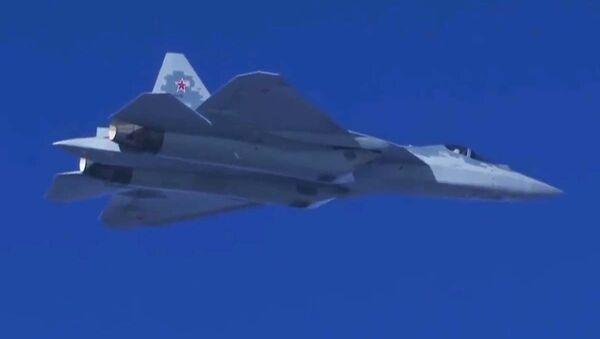 Najnowszy myśliwiec Su-57 w Syrii - Sputnik Polska
