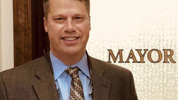 Burmistrz amerykańskiego miasta Northampton David Narkewicz - Sputnik Polska