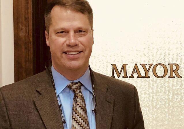Burmistrz amerykańskiego miasta Northampton David Narkewicz