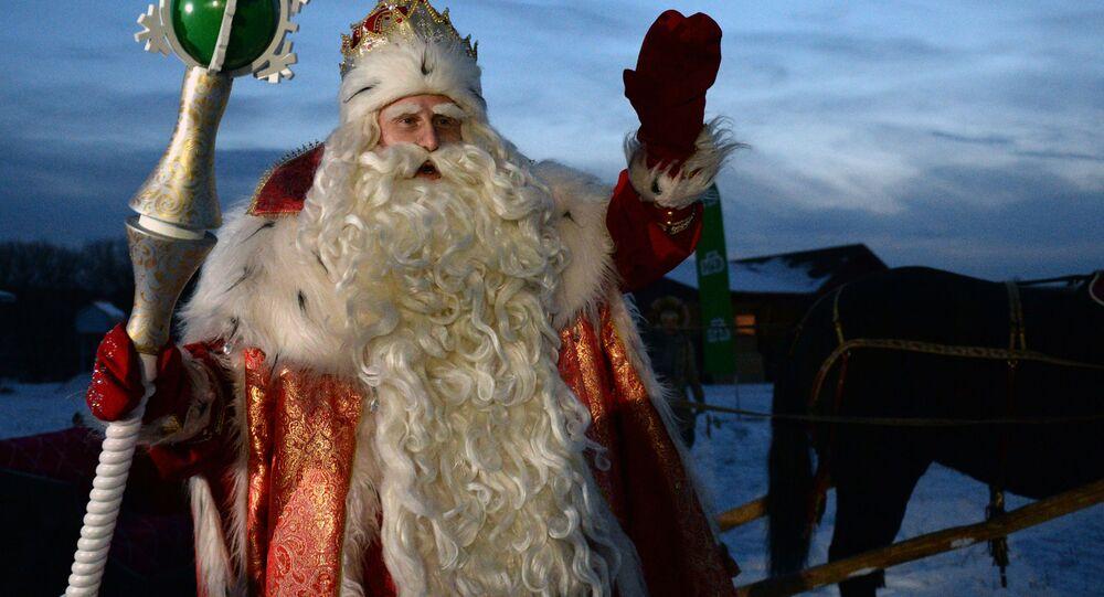 Główny rosyjski Dziadek Mróz z Wielkiego Ustiuga