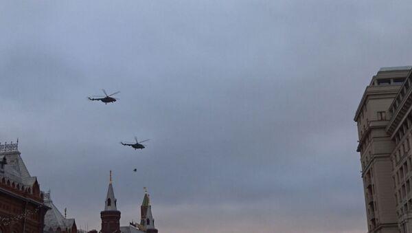 Helikoptery nad Moskwą - Sputnik Polska