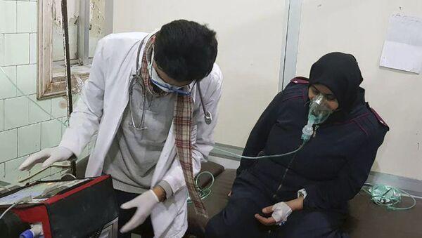Ofiara ataku chemicznego w Aleppo - Sputnik Polska