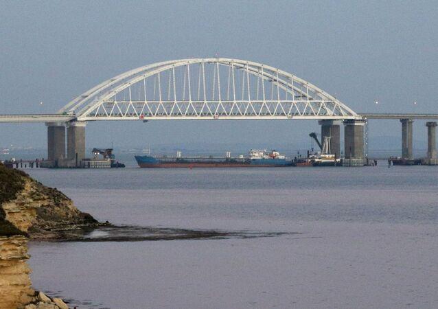 Cieśnina Kerczeńska łącząca Morze Czarne z Morzem Azowkim